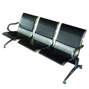 LINK CHAIR 3-SEATER METAL PADDED