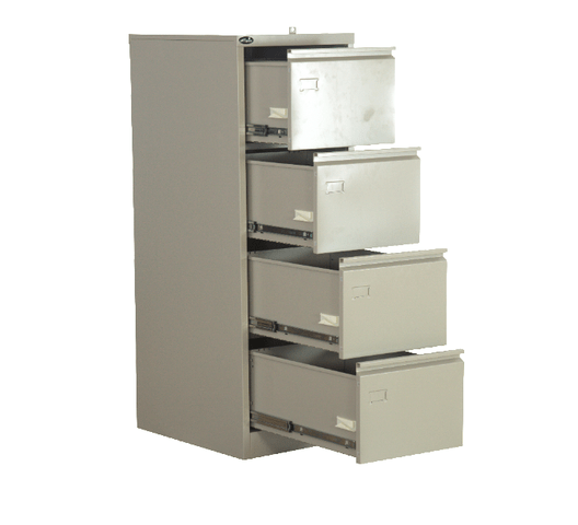 FILING CABINET 4-DRAWER WITH SECURITY BAR