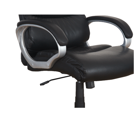 LEATHER CHAIR MID BACK ROTATED 1803M