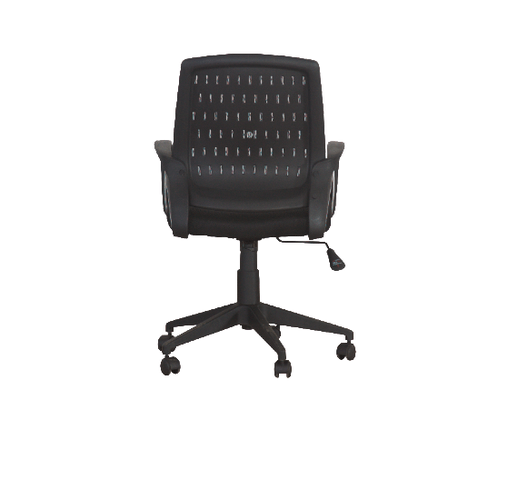 MESH CHAIR ROTATED MID BACK W500