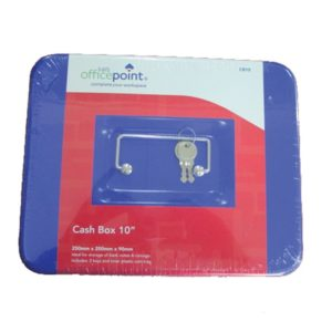 "OFFICE POINT CASH BOX 10"" Blue"