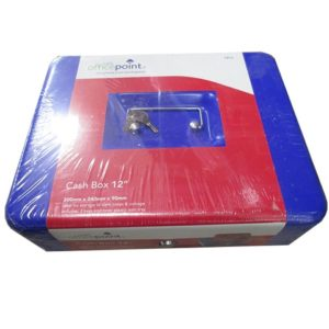 "OFFICE POINT CASH BOX 12"" Blue"