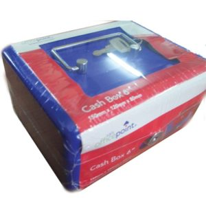 "OFFICE POINT CASH BOX 6"" Blue"