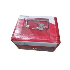 "OFFICE POINT CASH BOX 6"" Red"