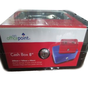 "OFFICE POINT CASH BOX 8"" Black"
