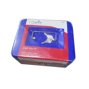 "OFFICE POINT CASH BOX 8"" Blue"