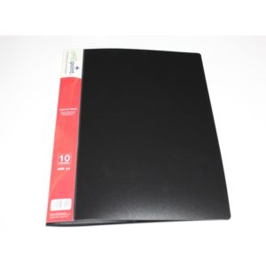 OFFICE POINT DISPLAY BOOK 10PK BLACK
