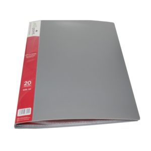 OFFICE POINT DISPLAY BOOK 20PK GREY