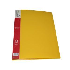OFFICE POINT DISPLAY BOOK 20PK YELLOW