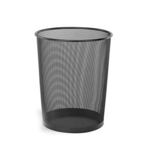 OFFICE POINT DUSTBIN MESH BLACK