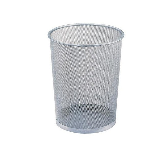 OFFICE POINT DUSTBIN MESH SILVER