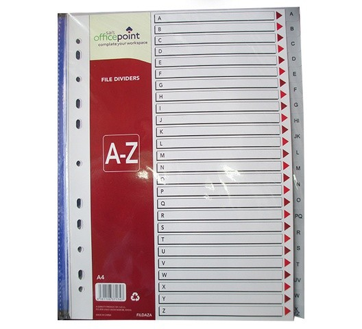 Office Point Divider A-Z Fildaza