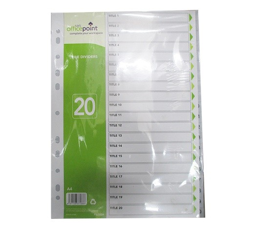 OfficePoint File Divider FILD20A